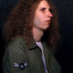 "The Air Force Subject, ©2006 By Adrian Gottlieb Portrait of Alex Alvarado Oil on Belgian Linen Size: 15.5"" x 20.5"""