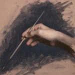 "The Artist's Hand, ©2009 By Adrian Gottlieb Oil on Belgian Linen, Birch Panel Size: 20"" x 16"" S. R. BRENNEN GALLERIES"