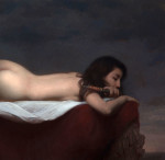 "Flight, , ©2013 By Adrian Gottlieb.  43""x25"", oil on Linen.  S.R. Brennen Galleries."