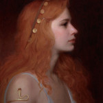 Seeress, ©2013 By Adrian Gottlieb Oil on Belgian Linen Size: 16″ x 20″.  S.R. Brennen Gallery