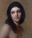 "Allison, ©2014 By Adrian Gottlieb Oil on Belgian Linen Size: 20""x16"".  Collection of Jon and Kristen Barron"